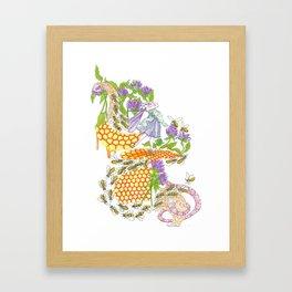 Beebalm Flower Framed Art Print