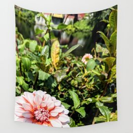 Peach Flower on the river Wall Tapestry