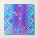 Moroccan Tile Pattern In Purple And Aqua Blue by ekaterinac