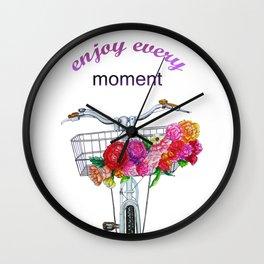 Enjoy every moment Wall Clock
