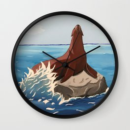 With The Waves Wall Clock