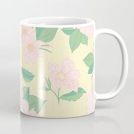 Summer Days Yellow Floral Print Coffee Mug