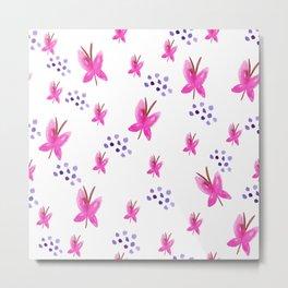 Fluttering Butterflies, Pink II Metal Print