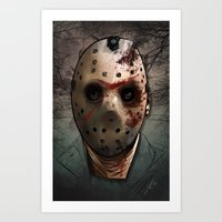 friday Art Prints featuring Friday  by Lady Macabre Art