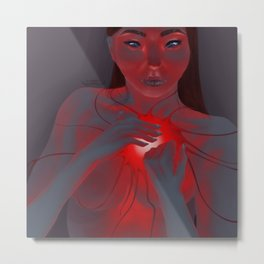 Naked Heart Metal Print