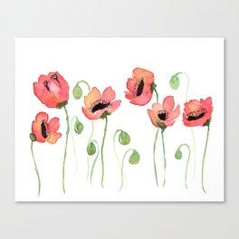 Meraki Poppy Field Canvas Print