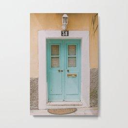 Mint Door Metal Print