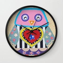 Happy Owl Wall Clock