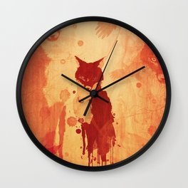 Glimpse Of A Fox In The Forest Wall Clock