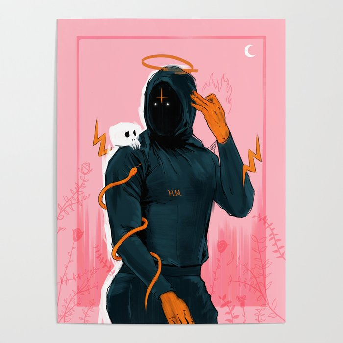 Hoodie Melo Poster