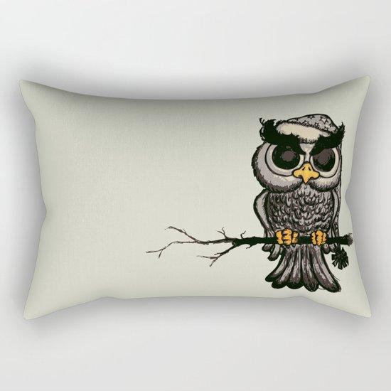 Angry owl Rectangular Pillow
