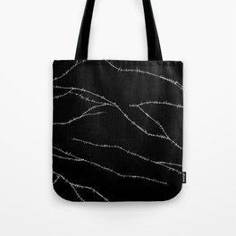 Stitches (Black) Tote Bag