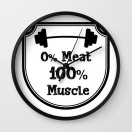 Vegetarian Vegan Muscle Workout Gifts Wall Clock