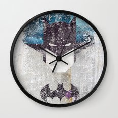 Bat grunge superhero Wall Clock