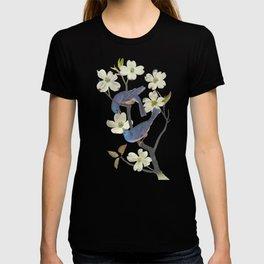 Bluebirds in Dogwood Tree T-shirt