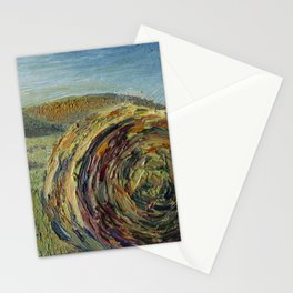 Round hay bale southern view Stationery Cards