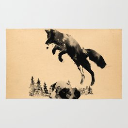 The quick brown fox jumps over the lazy dog Rug