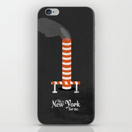 """This is New York for me. """"Steam"""" iPhone Skin"""