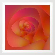 Spiral Labyrinth in Pink and Orange Art Print