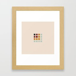 Retro Colored Squares Framed Art Print