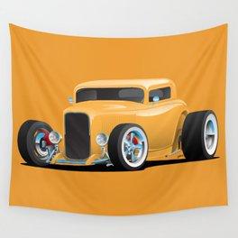 Classic American 32 Hotrod Car Illustration Wall Tapestry