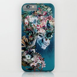 Floral Skull RP iPhone Case
