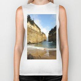 Gigantic Cliffs of the Ocean Biker Tank