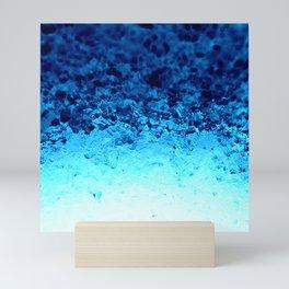 Blue Crystal Ombre Mini Art Print