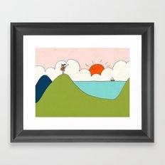 hiker Framed Art Print