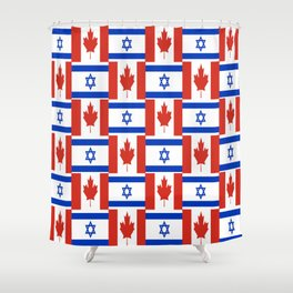 Mix of flag : canada and israel Shower Curtain