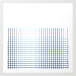 Dotted Grid Boarder Blue Red 2 Art Print
