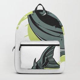 Salmon Fish T-shirt Backpack