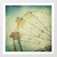 ferris wheel Art Prints featuring Ferris Wheel by Honey Malek