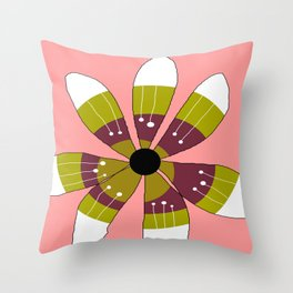 FLOWERY BRITTA  / ORIGINAL DANISH DESIGN bykazandholly Throw Pillow