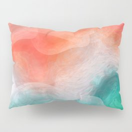 """""""Coral sand beach and tropical turquoise sea"""" Pillow Sham"""