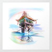 vietnam Art Prints featuring Vietnam by tatiana-teni