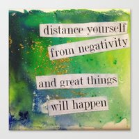 positive Canvas Prints featuring Positive by Brianna M. Garcia