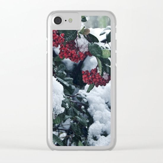 Winter and snow Clear iPhone Case
