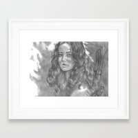 katniss Framed Art Prints featuring Goodbye by ombradellaluna