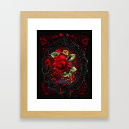 Rose Red Framed Art Print