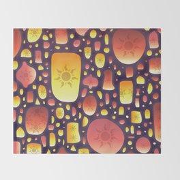 Tangled Lanterns Pattern Throw Blanket