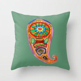 Colourful Paisley Throw Pillow