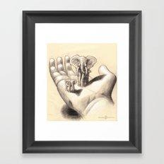 Pocket Elephants Framed Art Print