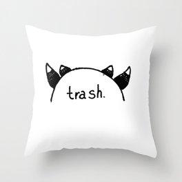 cosplaying trash Throw Pillow