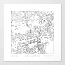Edinburgh Figure Ground Canvas Print