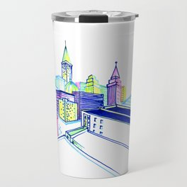 Vibrant city Travel Mug