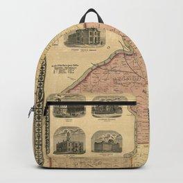 Map Of Atlanta 1872 Backpack