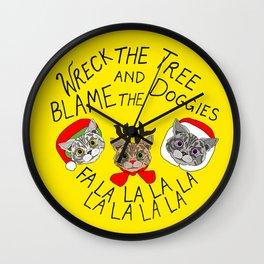 Holiday Cat Brats Wall Clock