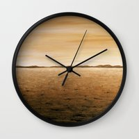 desert Wall Clocks featuring Desert by AhaC