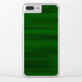 Emerald Green and Black Abstract Clear iPhone Case